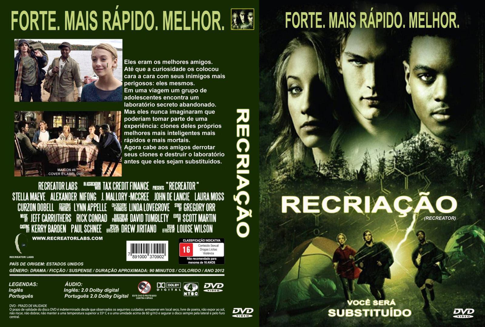 Recriação (Cloned: The Recreator Chronicles) Torrent - Dual Áudio (2012)