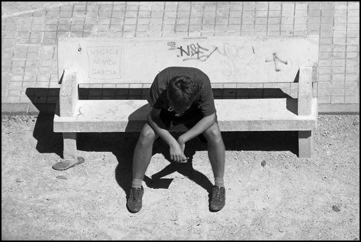 Retrato en un banco de Valencia