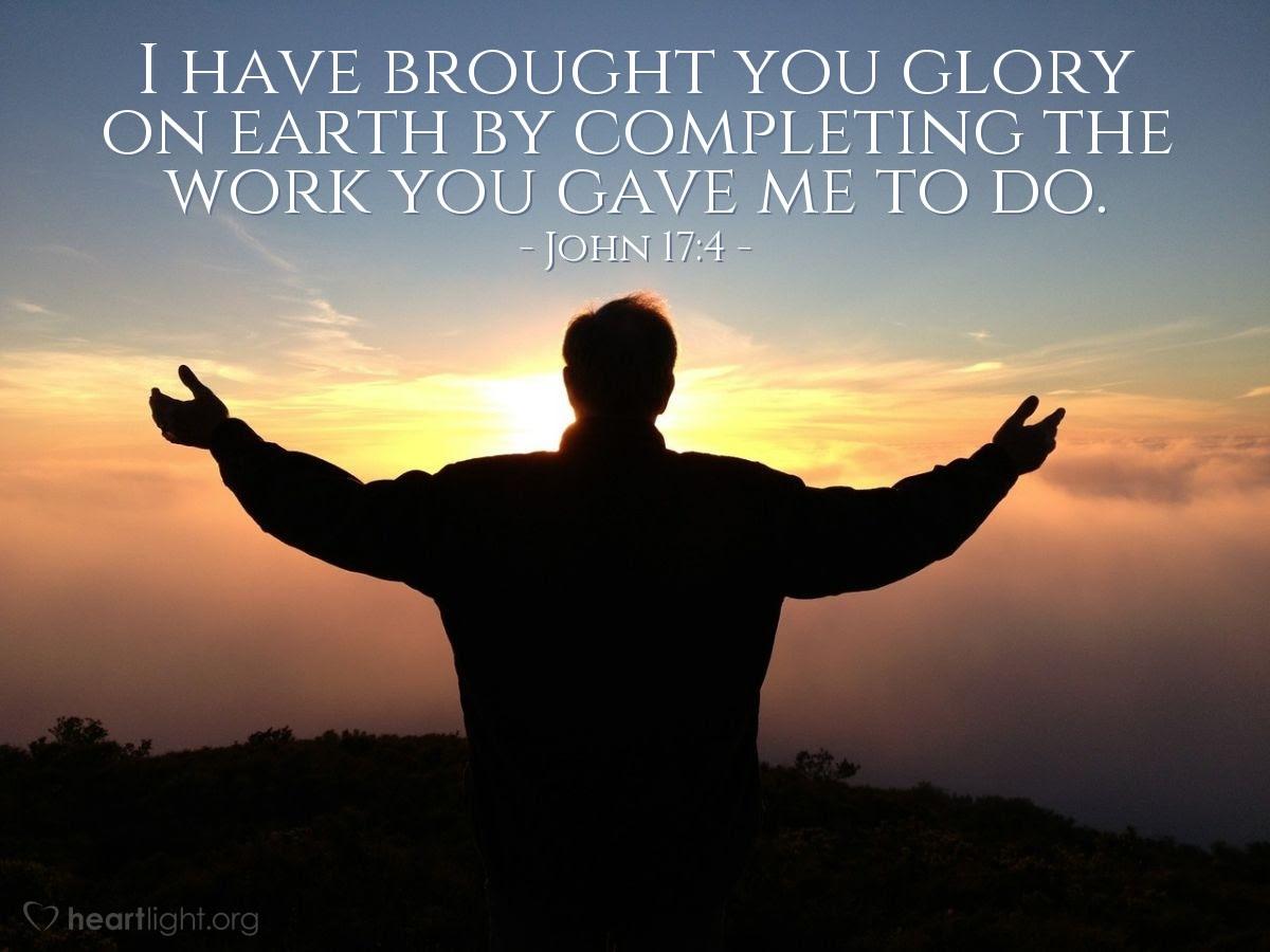 Illustration of John 17:4