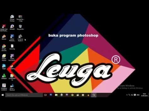 tutorial membuat logo keren adobe photoshop csleuga