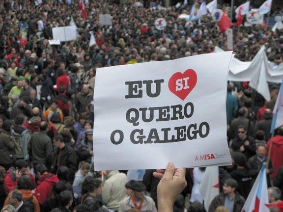 Manifestación a favor del gallego.