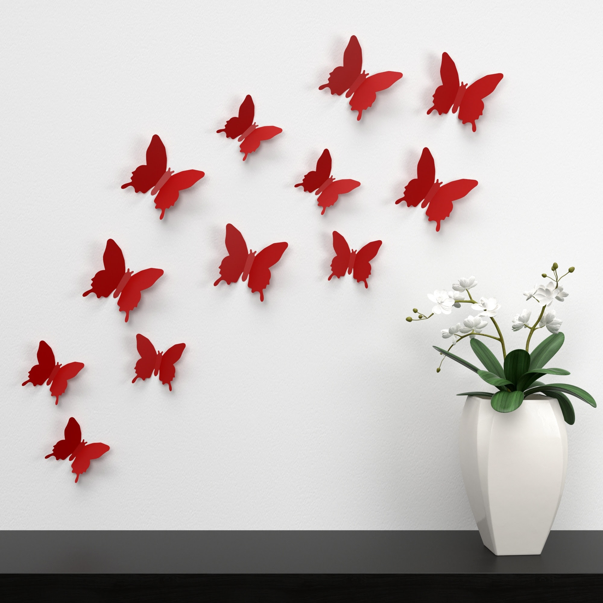 Red Butterfly Wall Decor Lot Free Image Peakpx