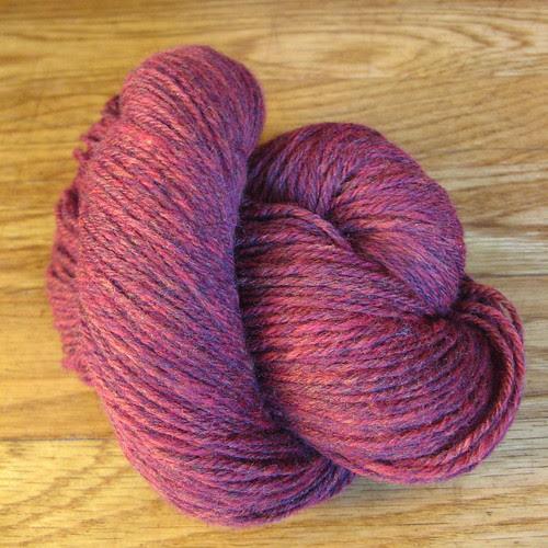 fluffy red merino