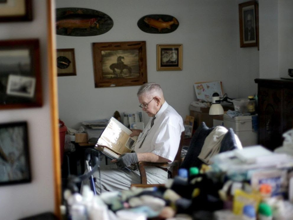 PHOTO: Loyd Leatherman, 91, served as a U.S. Navy mailman during World War II. He was stationed aboard the USS Oglethorpe in the Pacific Theater.