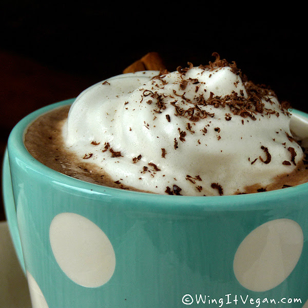 Hot Chocolate with Flax Meringue
