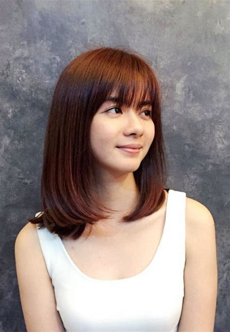 versatile bang haircuts  medium length hairs