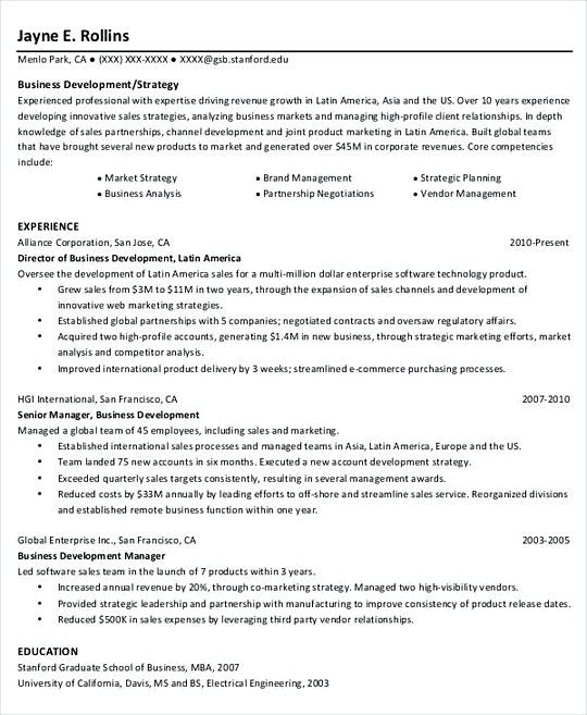 Project Manager Resumes Templates