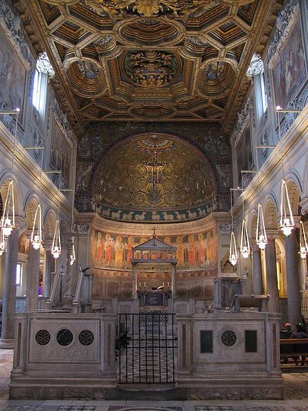 File:Interior of San Clemente, Rome.JPG