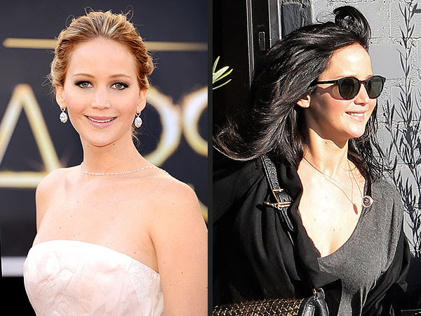 Jennifer Lawrence Dyes Her Hair Jet Black