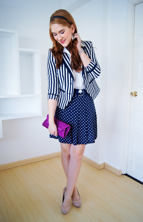 Pattern mixing by The Joy of Fashion (6)