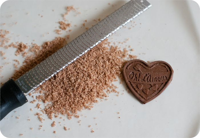 microplane to even edges from chocolate molds