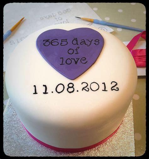 1st wedding anniversary cake. Ivory & Rose Cake Co