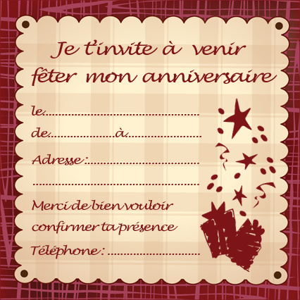 Carte D Invitation Anniversaire Gratuite A Imprimer Nanaryuliaortega Blog