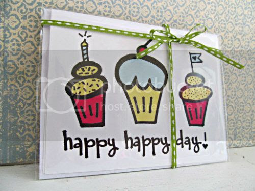 Happy Birthday Cupcake Card (500)
