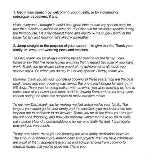 Sample Wedding Speech Example   7  Free Documents Download