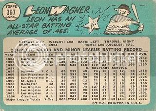 #367 Leon Wagner (back)