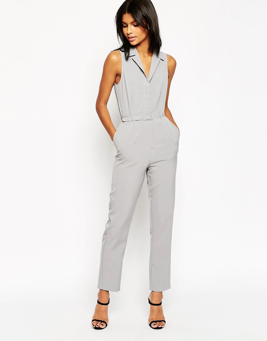 Image 1 of ASOS Tailored Jumpsuit with Shirt Detail