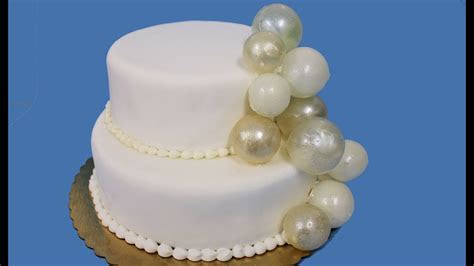 How to make gelatin bubbles for wedding cakes   YouTube