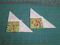 second triangle sewn]