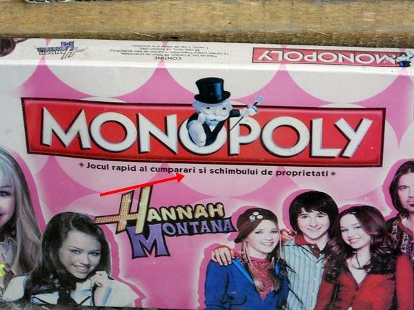 Monopoly, Hannah Montana şi limba română - D'ale gramaticii (9)