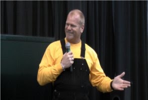 """Mike Holmes from HGTV's """"Holmes on Holmes"""" speaks at the 2011 Kalamazoo/Battle Creek Home Expo in Portage, Michigan.  3/12/2011"""