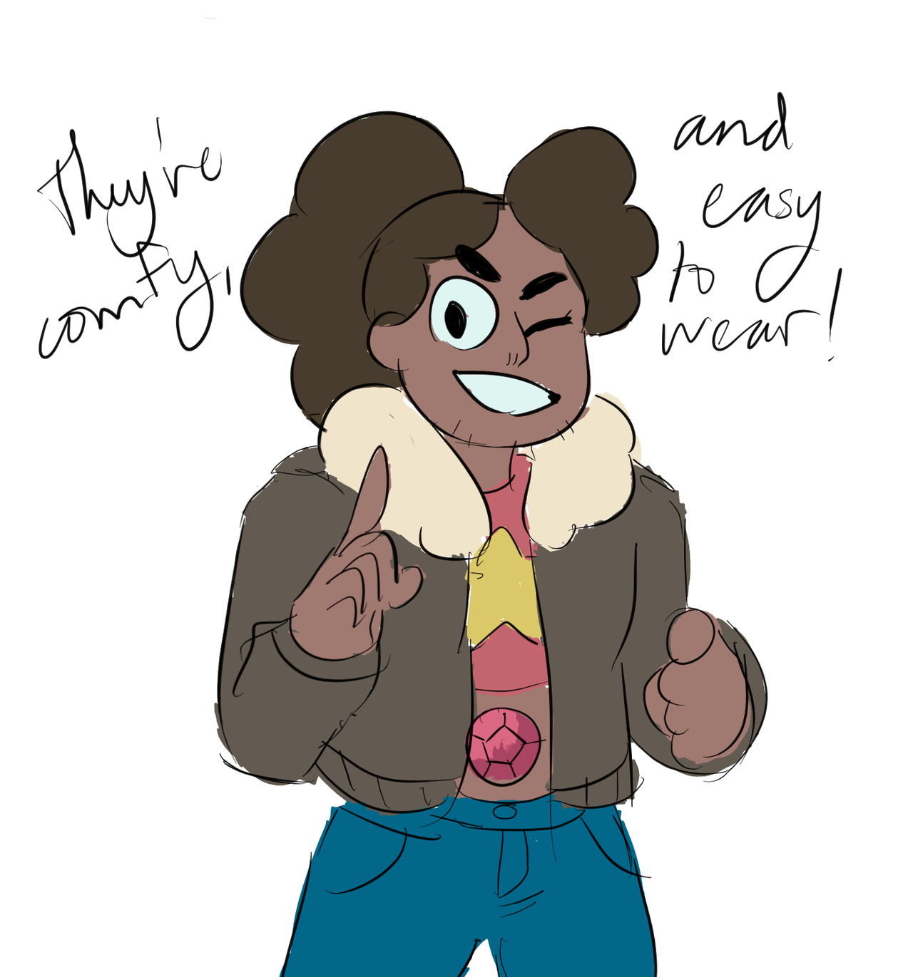 i love and support stevonnie and their jorts