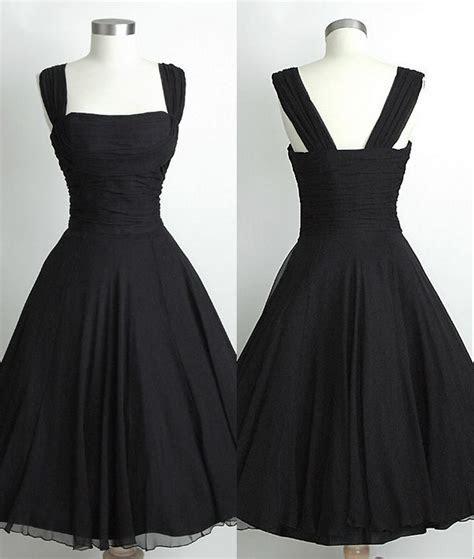 Short Straps Black Bridesmaid Dresses,Black Knee Length