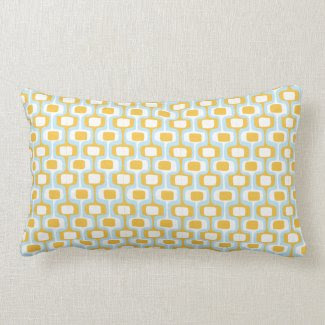 Orange/Blue Pattern Pillow throwpillow