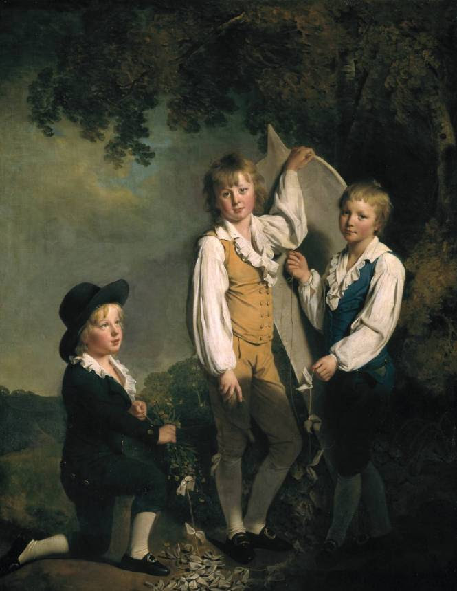 Τρία παιδιά του Richard Arkwright με χαρταετό -Joseph Wright of Derby - 1791