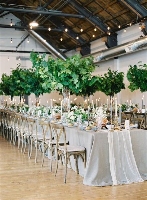 Greens Turned a City Wedding into a Garden Oasis   Wedding