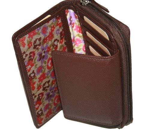 ESPRIT Honey Medium Zip Wallet Geldbörse Bordeaux Red Violett Neu