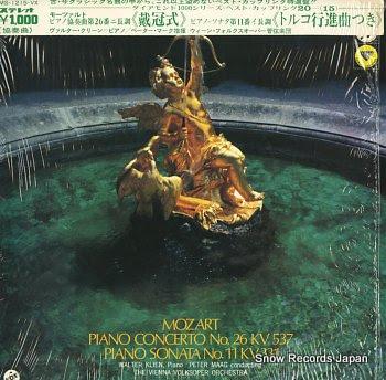 KLIEN, WALTER mozart; piano concerto no.26 kv537