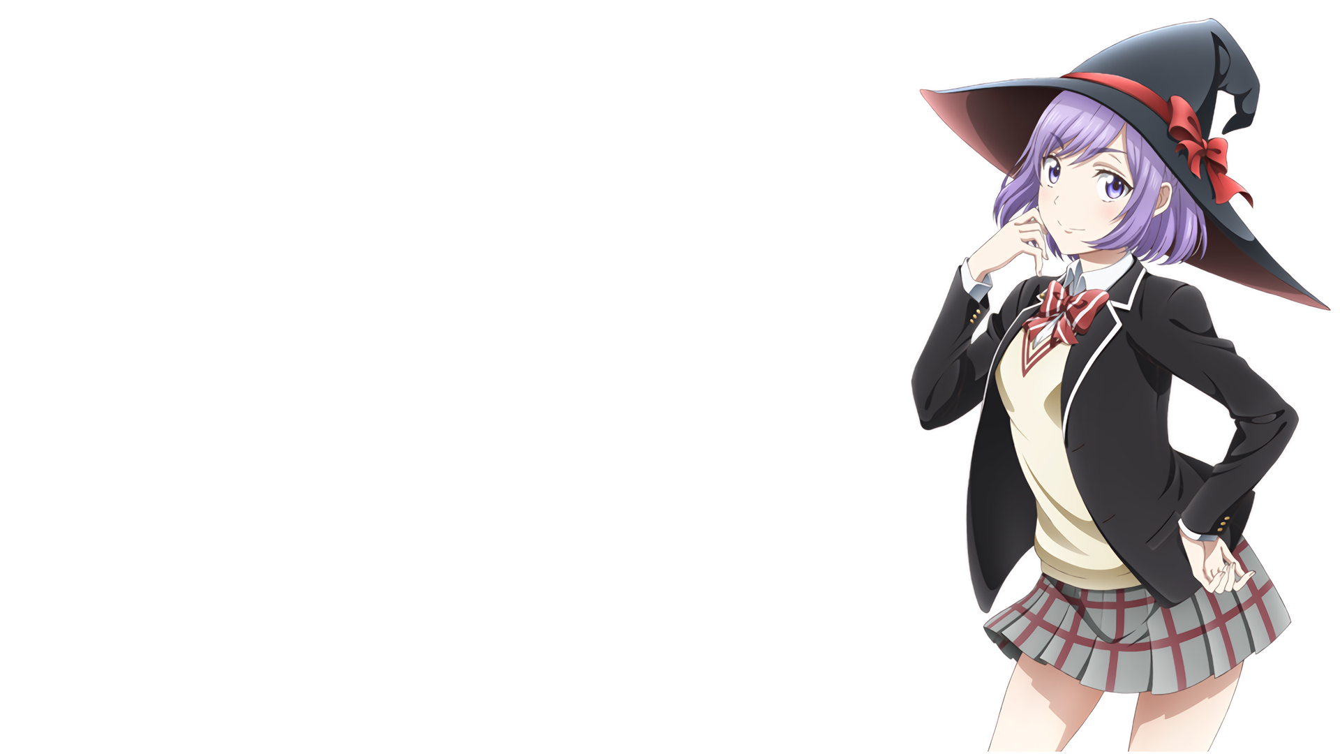 Simple White Best Girl Wallpaper 1920x1080 Yamada Kun And The