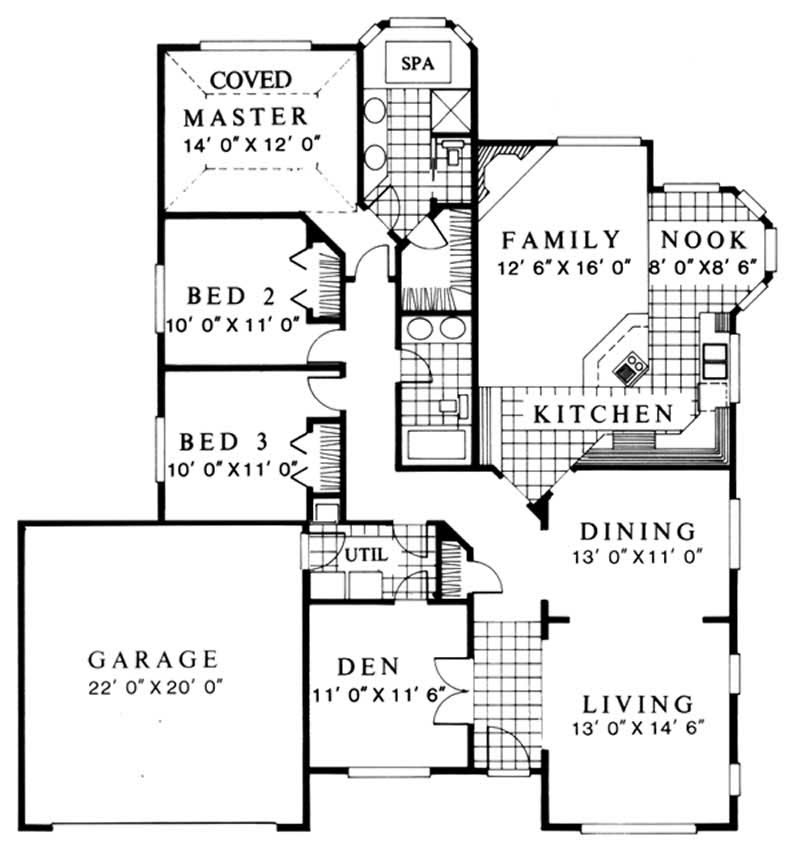 Feng Shui, Ranch House Plans - Home Design M-1853 # 2726