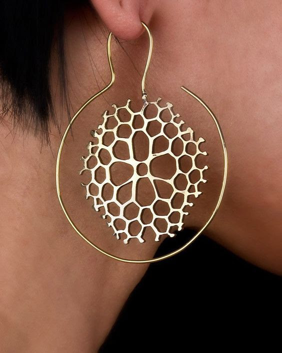 Honeycomb Dangle Earrings