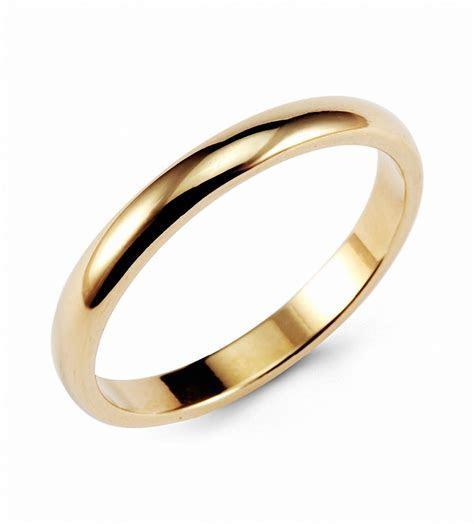 Hanlob Gold Classic Tungsten Ring 3mm Classic Wedding
