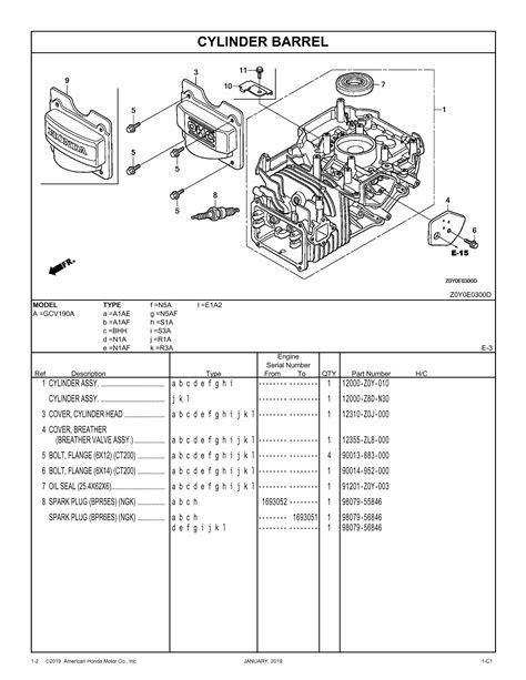 GCV190A General Purpose Engine Parts Catalog | Honda Power