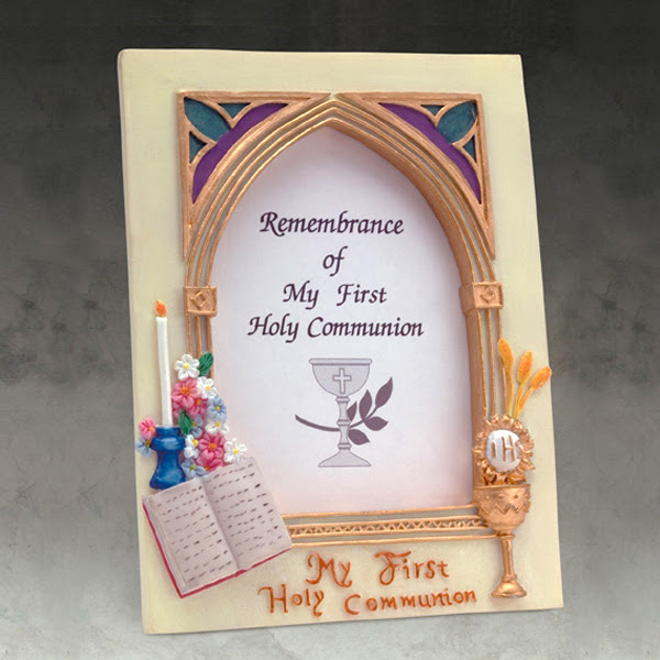 First Holy Communion Frame In Resin 4 X 5 12 St Andrews