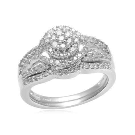 Eternal Treasures Sterling Silver 1/2ct Round Diamond
