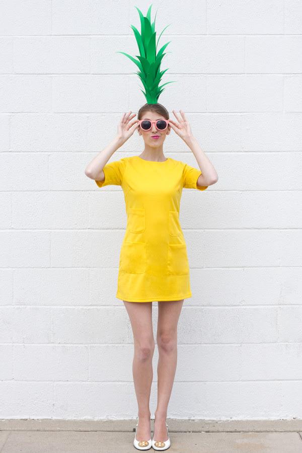 Last Minute Ananas Kostüm