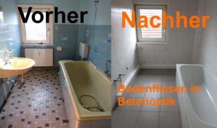 Küche fliesen verkleiden: Fliesen betonoptik badezimmer