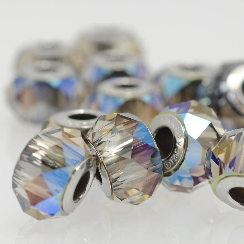 27759400025006 Swarovski Elements Bead - 14 mm Becharmed Rondelle (5940) - Crystal Iridescent Green (1)