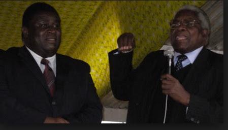 Ken Zikhale Ng'oma (left) and Gwanda Chakuamba in good old days addressing a UDF political rall