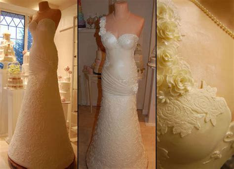 Life Size Wedding Dress Desserts : Bridal Gown Wedding Cake