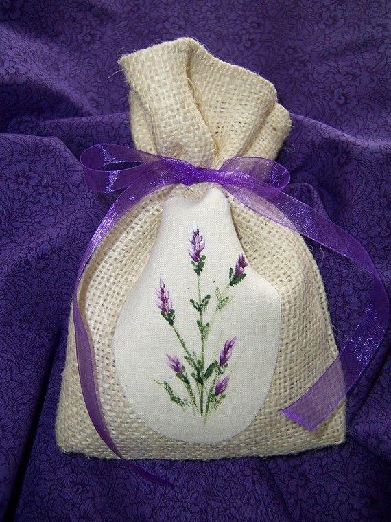 Burlap Lavender Sachet by CozyExpressions on Etsy,