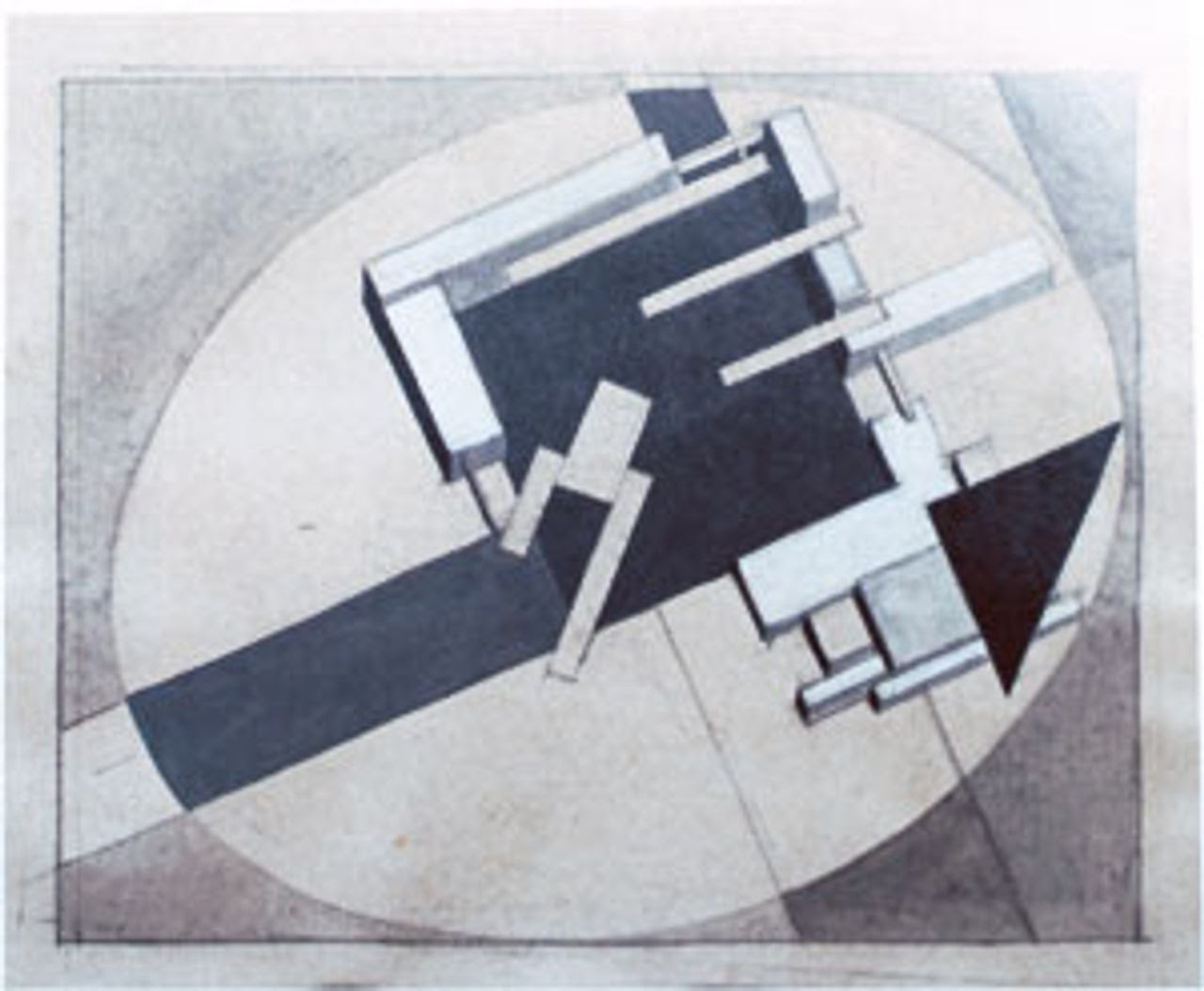 Lissitzky drawing