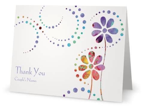 vistaprint thank you card flowers   Custom Printing Deals