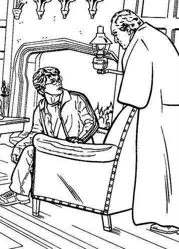 kidsnfun  25 coloring pages of harry potter and the