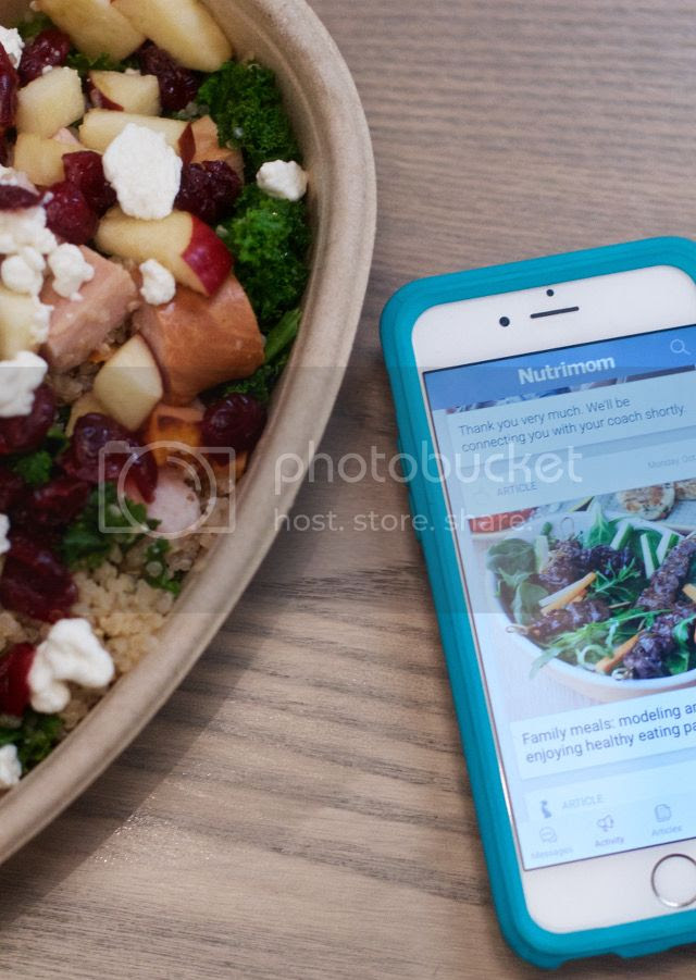 Quinoa Bowl and Nutrimom App