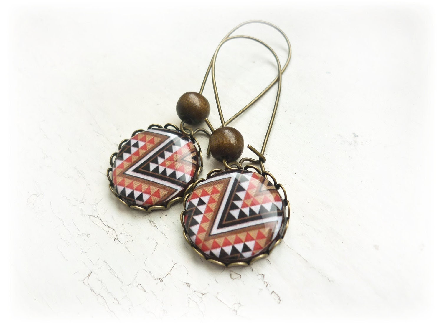 Geometry earrings, gift for her, geometric, tribal, modern